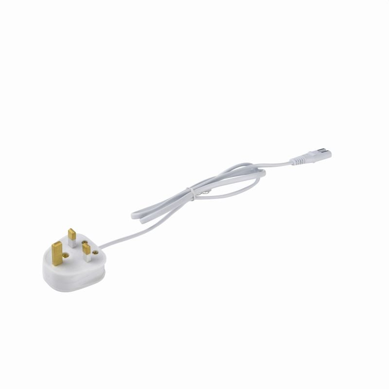 Saxby-75921 - Sleek CCT - Power Lead with 3 Pin Plug for Under Cabinet Fitting
