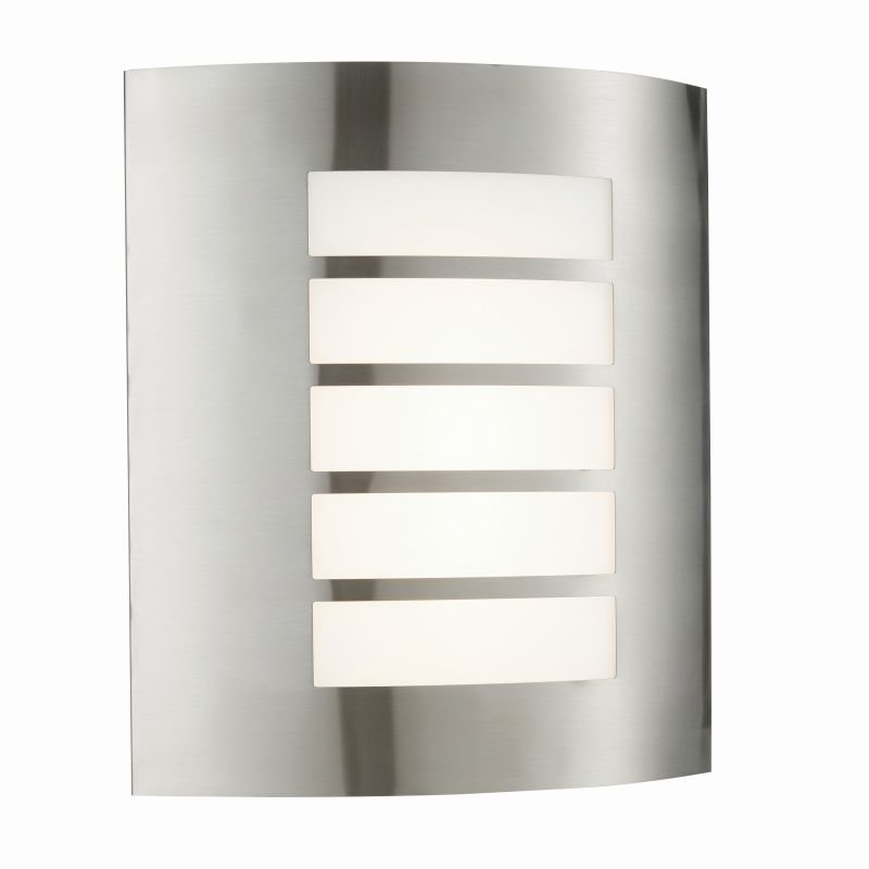 Saxby-75930 - Bianco - LED Opal & Stainless Steel Wall Lamp