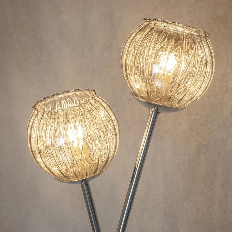 Endon-76123 - Aerith - Smoky Mirror Glass & Chrome 2 Light Floor Lamp