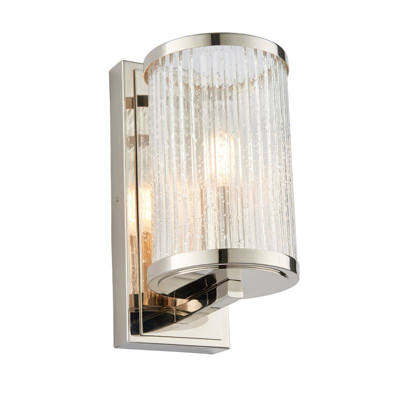 Endon-76259 - Easton - Ribbed with Bubble Glass Wall Lamp