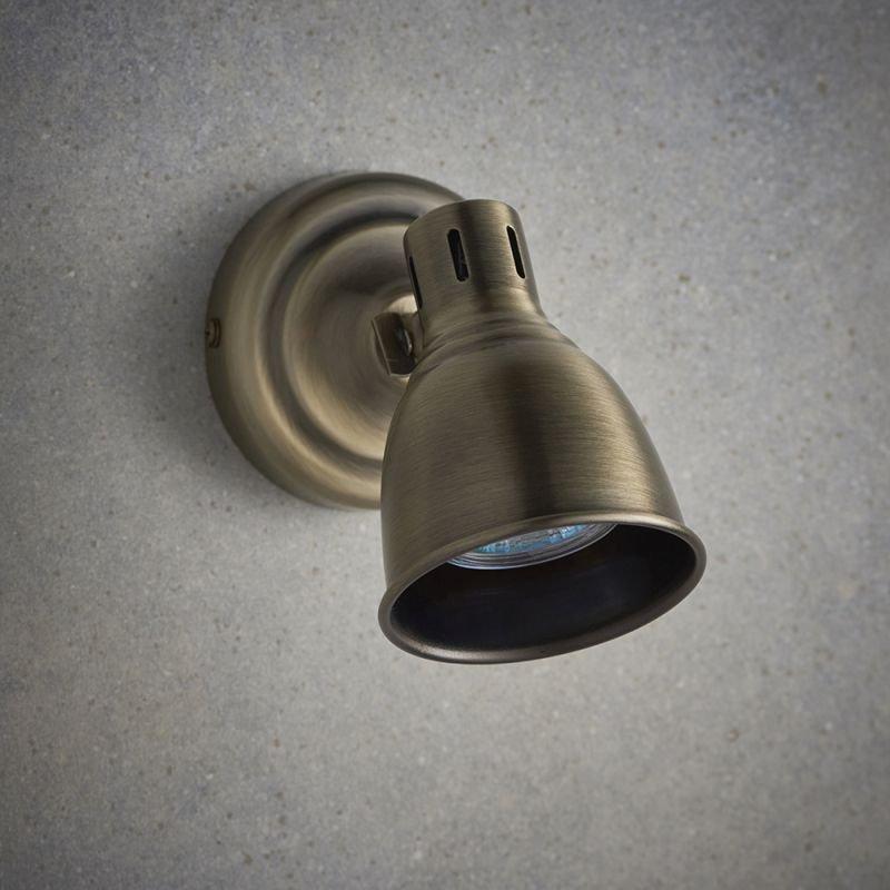 Endon-76277 - Westbury - Antique Brass Single Spotlight