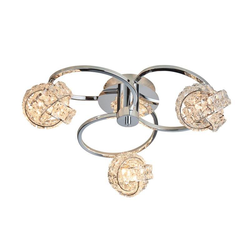 Endon-76285 - Talia - Crystal & Chrome 3 Light Ceiling Lamp