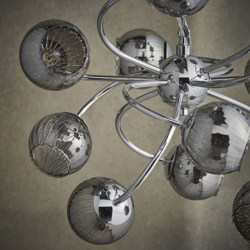 Endon-76315 - Aerith - Smoky Mirror Glass & Chrome 12 Light Centre Fitting