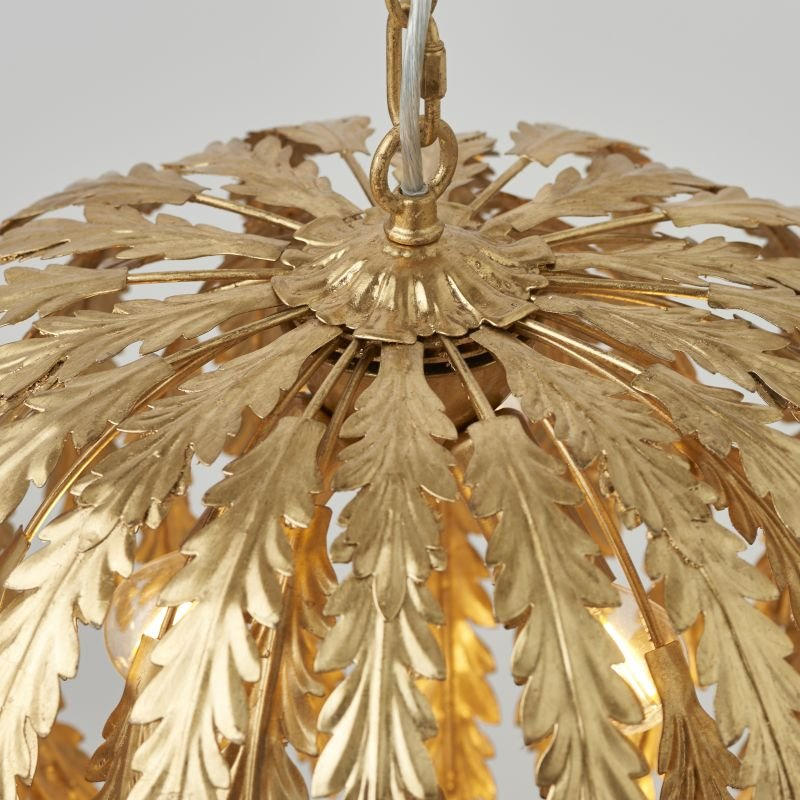Endon-76360 - Delphine - Bright Gold Painted Floral 3 Light Hanging Pendant