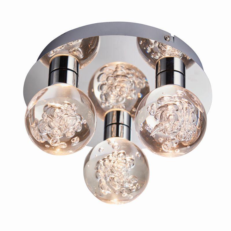 Endon-76364 - Versa - LED Polished Chrome with Globe 3 Light Ceiling Lamp