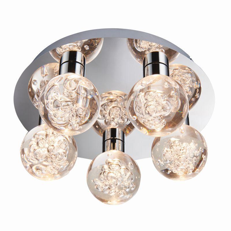 Endon-76365 - Versa - LED Polished Chrome with Globe 5 Light Ceiling Lamp