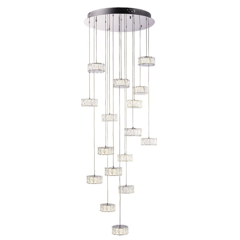 Endon-76486 - Prisma - LED Crystal & Chrome 16 Light Cluster Pendant