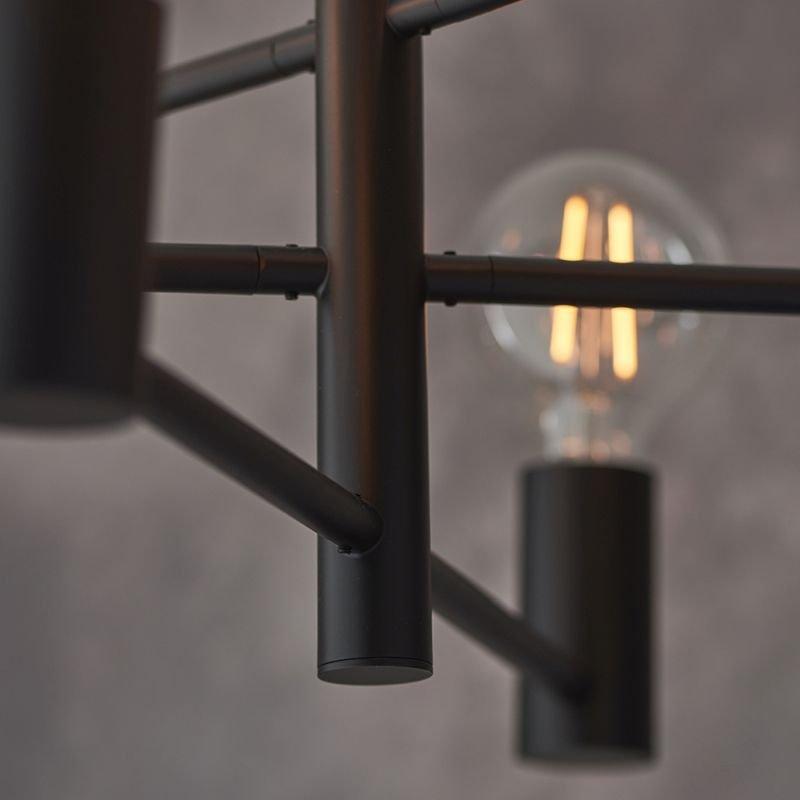 Endon-76502 - Studio - Matt Black 6 Light Centre Fitting