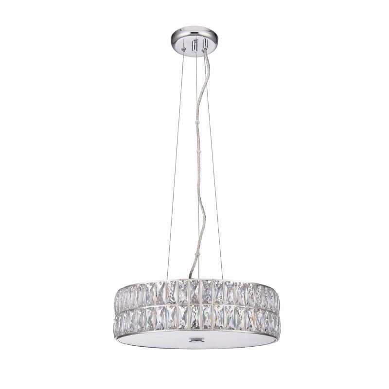 Endon-76513 - Verina - Crystal and Frosted Diffuser Hanging Pendant