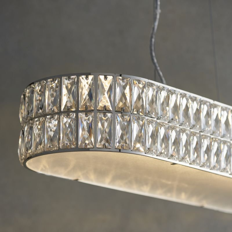 Endon-76514 - Verina - LED Crystal and Frosted Diffuser over Island Fitting