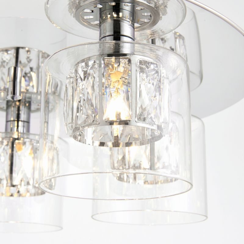 Endon-76517 - Verina - Crystal and Clear Glass Diffuser Ceiling Lamp