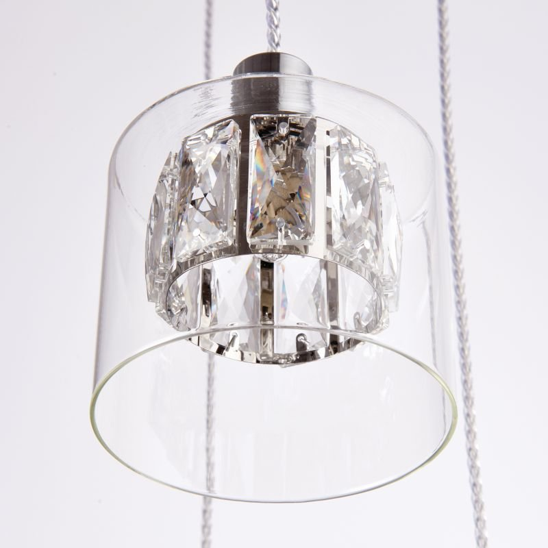 Endon-76520 - Verina - Crystal and Clear Glass Diffuser 5 Light Cluster Pendant