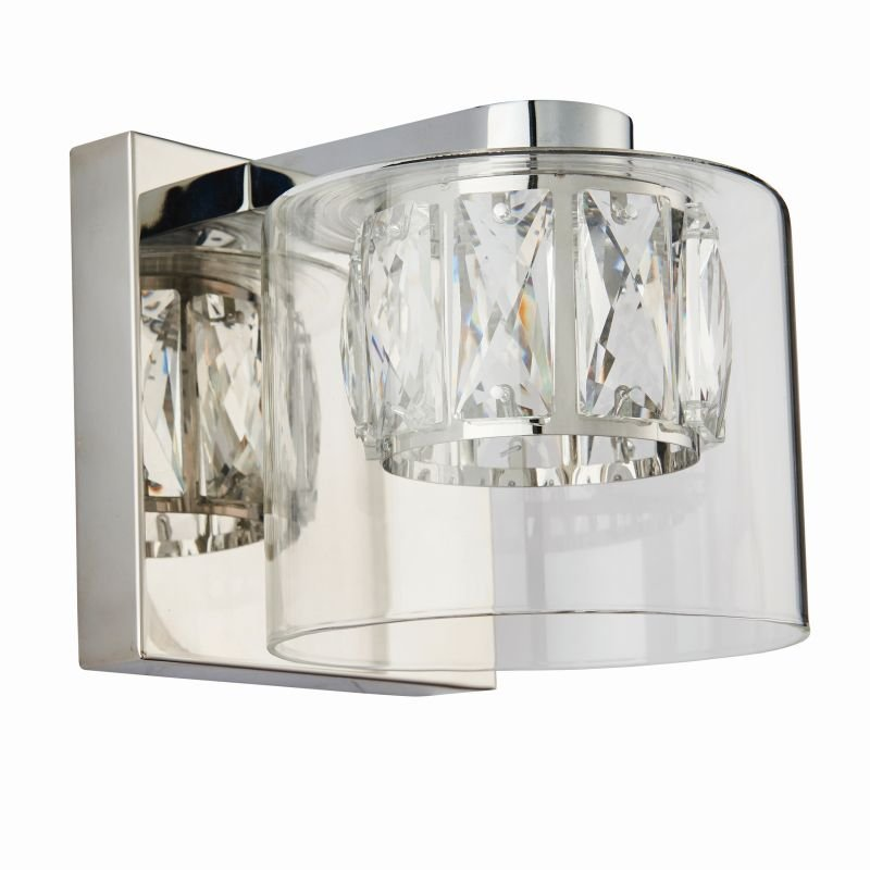 Endon-76521 - Verina - Crystal and Clear Glass Diffuser Wall Lamp