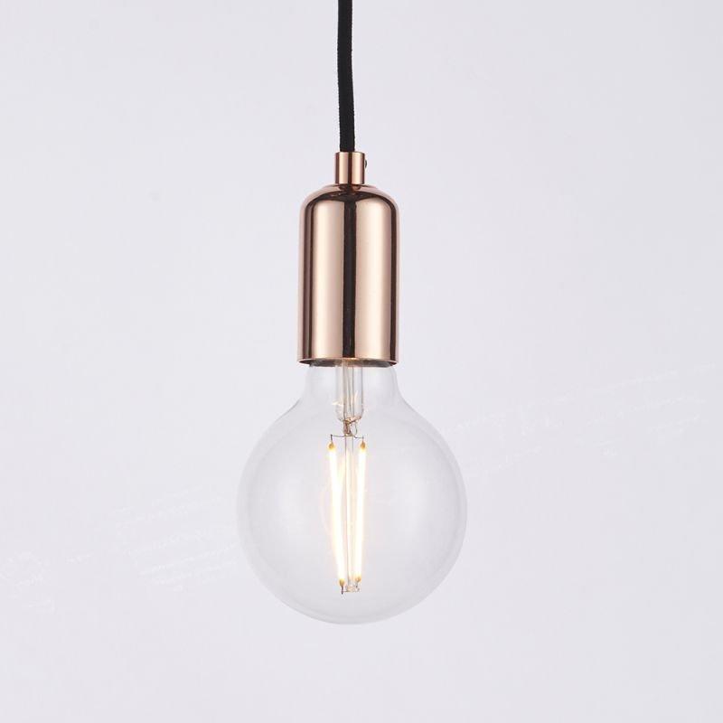 Endon-76579 - Studio - Copper & Black 3 Light Spider Pendant