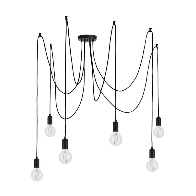 Endon-76583 - Studio - Matt Black 6 Light Spider Pendant