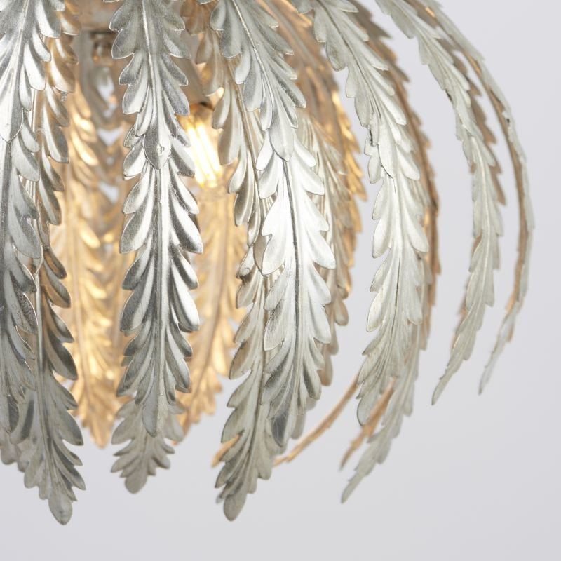 Endon-76678 - Delphine - Silver Painted Floral 3 Light Hanging Pendant