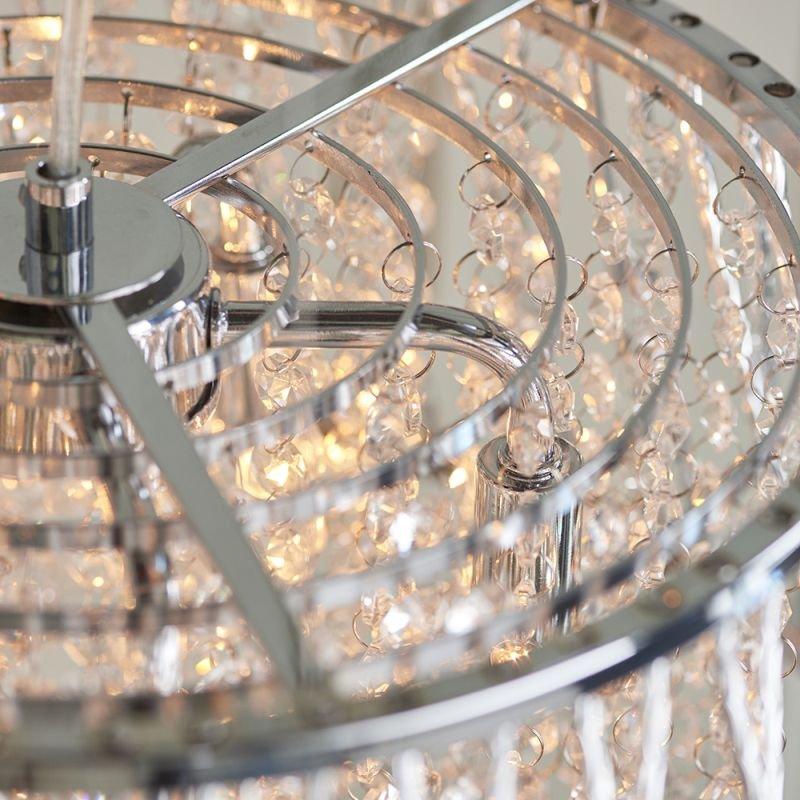 Endon-76694 - Sophia - Crystal & Chrome 5 Light Pendant