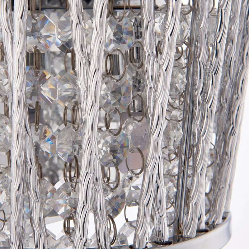 Endon-76698 - Sophia - Crystal & Chrome Wall Lamp
