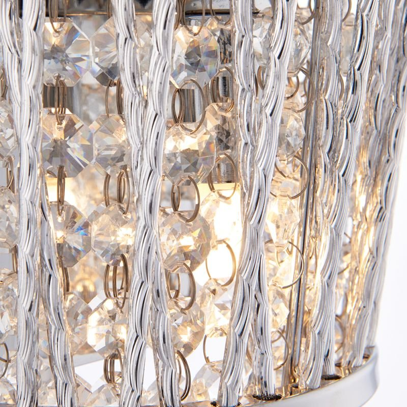 Endon-76698 - Sophia - Crystal & Chrome Wall Lamp