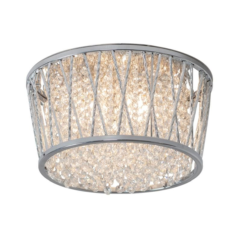 Endon-76708 - Sophia - Crystal & Chrome 3 Light Ceiling Lamp