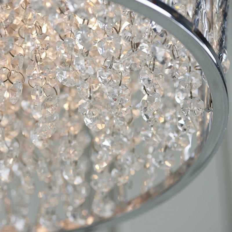 Endon-76708 - Sophia - Crystal & Chrome 3 Light Ceiling Lamp
