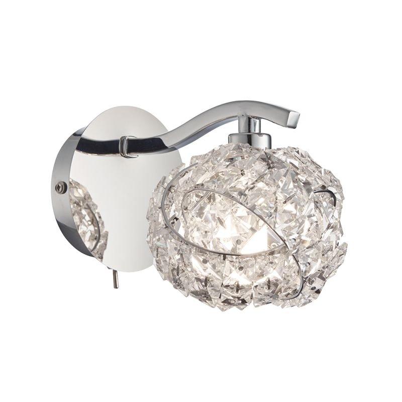 Endon-77567 - Talia - Crystal & Chrome 1 Light Wall Lamp