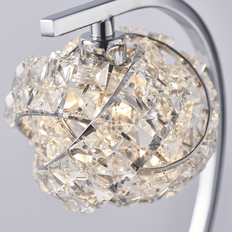 Endon-77568 - Talia - Crystal & Chrome 1 Light Table Lamp