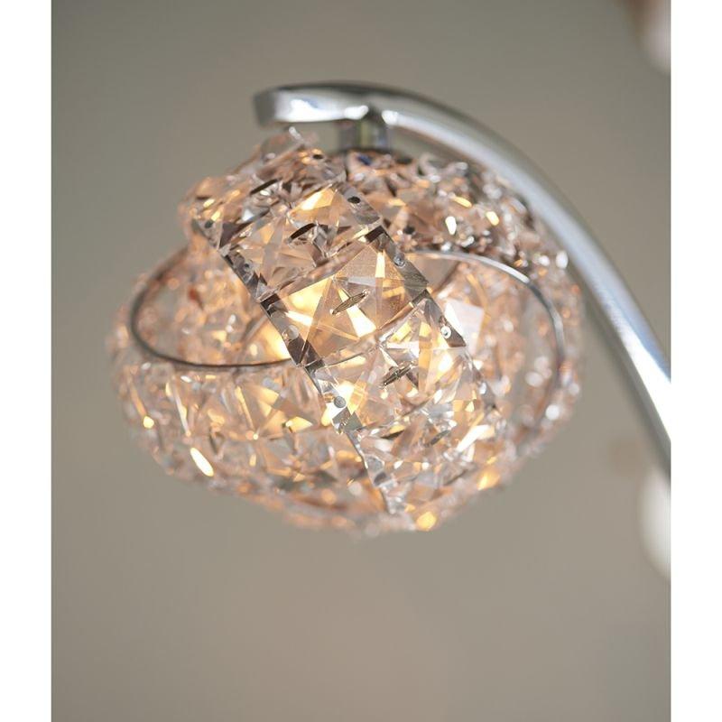 Endon-77569 - Talia - Crystal & Chrome 2 Light Floor Lamp