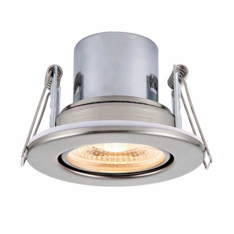 Saxby-78522 - ShieldECO 800 Tilt - LED Adj. Satin Nickel Recessed Downlight 3000K