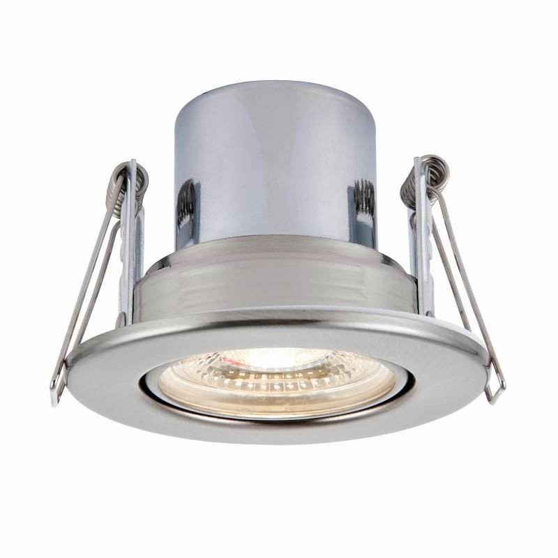 Saxby-78523 - ShieldECO 800 Tilt - LED Adj. Satin Nickel Recessed Downlight 4000K