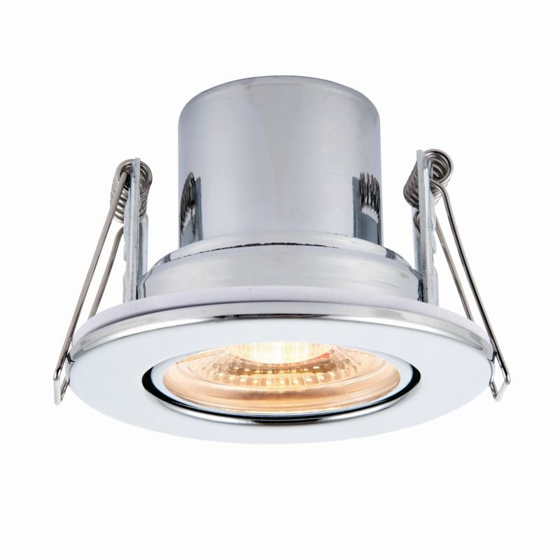Saxby-78524 - ShieldECO 800 Tilt - LED Adj. Chrome Recessed Downlight 3000K