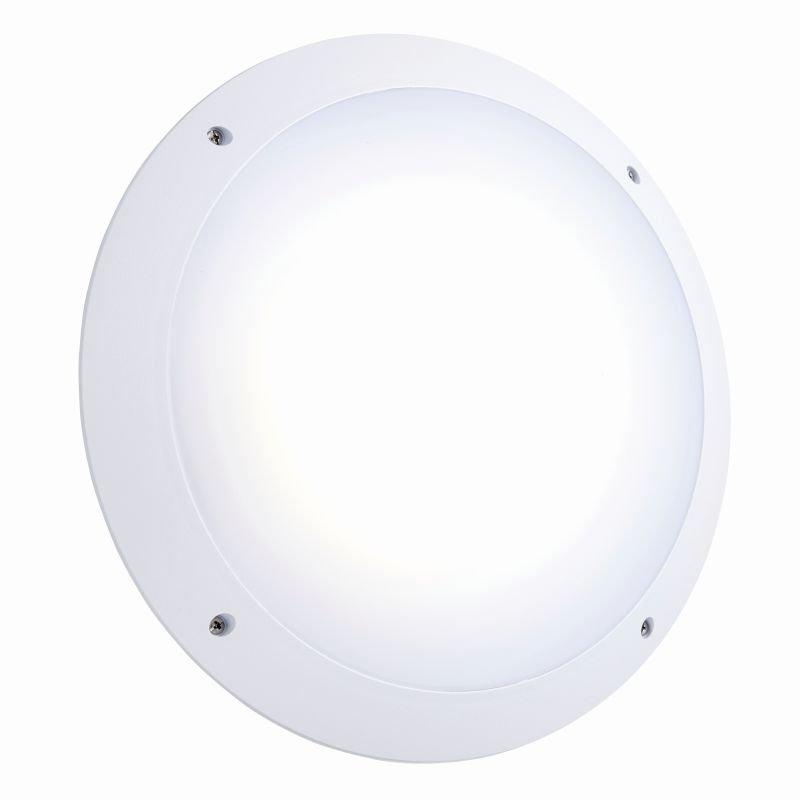 Saxby-78609 - Seran - LED White Plain Microwave Bulkhead