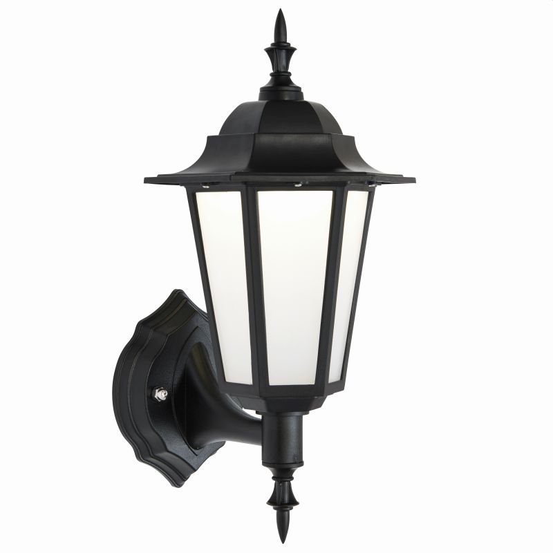 Saxby-78617 - Evesham - LED Black & Frosted Wall Lamp