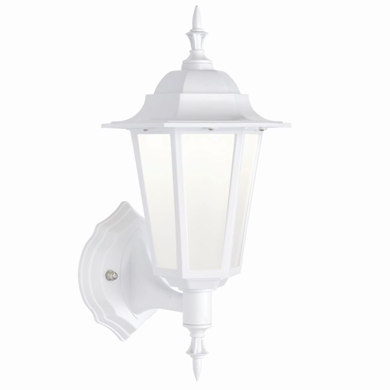 Saxby-78618 - Evesham - LED White & Frosted Wall Lamp