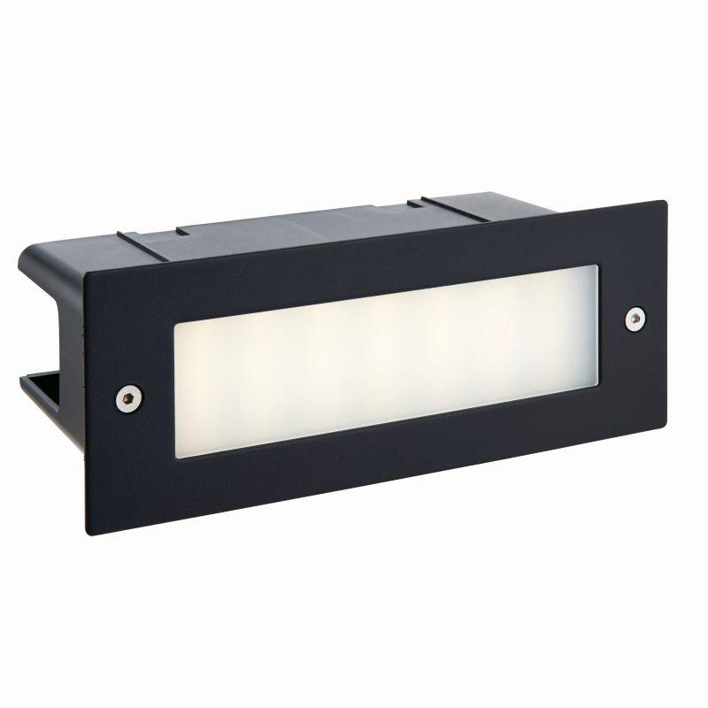 Saxby-78638 - Seina - LED 4000K Black & Frosted Glass Brick Light