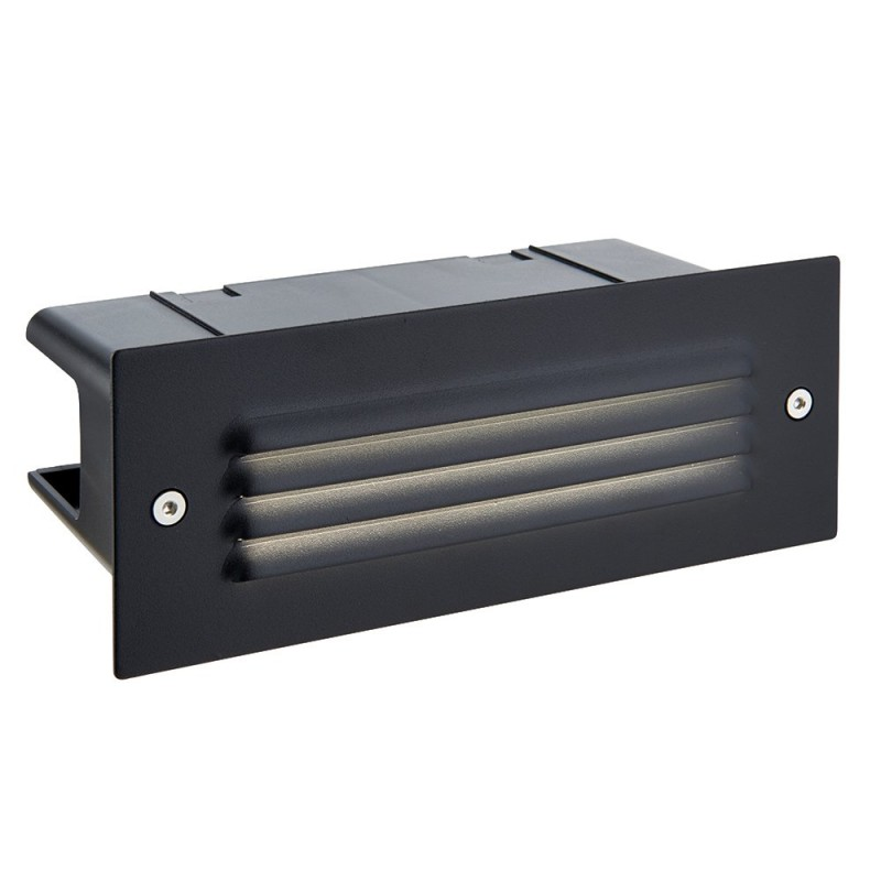 Saxby-78640 - Seina - LED 4000K Black with Grill Brick Light