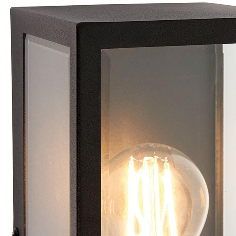 Saxby-78757 - Breton - Outdoor Black Lantern Wall Lamp