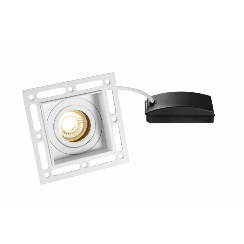 Saxby-78955 - Trimless Tilt - Adjust White Plaster-in Recessed Downlight