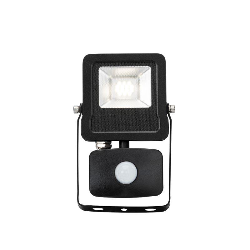Saxby-78963 - Surge PIR - Outdoor LED Black Floodlight with Sensor 10W