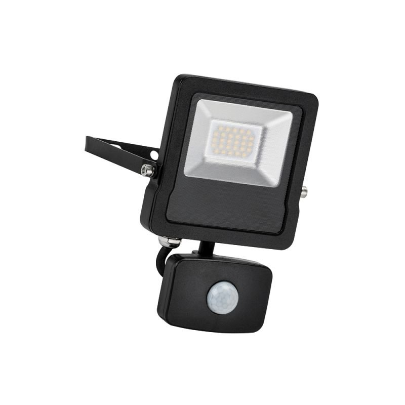 Saxby-78965 - Surge PIR - Outdoor LED Black Floodlight with Sensor 20W