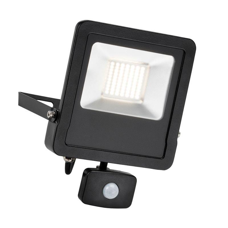 Saxby-78969 - Surge PIR - Outdoor LED Black Floodlight with Sensor 50W