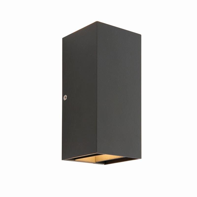 Saxby-79196 - Glover - LED Matt Black Up&Down Wall Lamp
