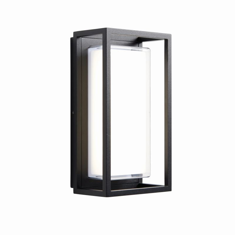 Saxby-79201 - Arlow - LED Clear & Black Rectangle Wall Lamp