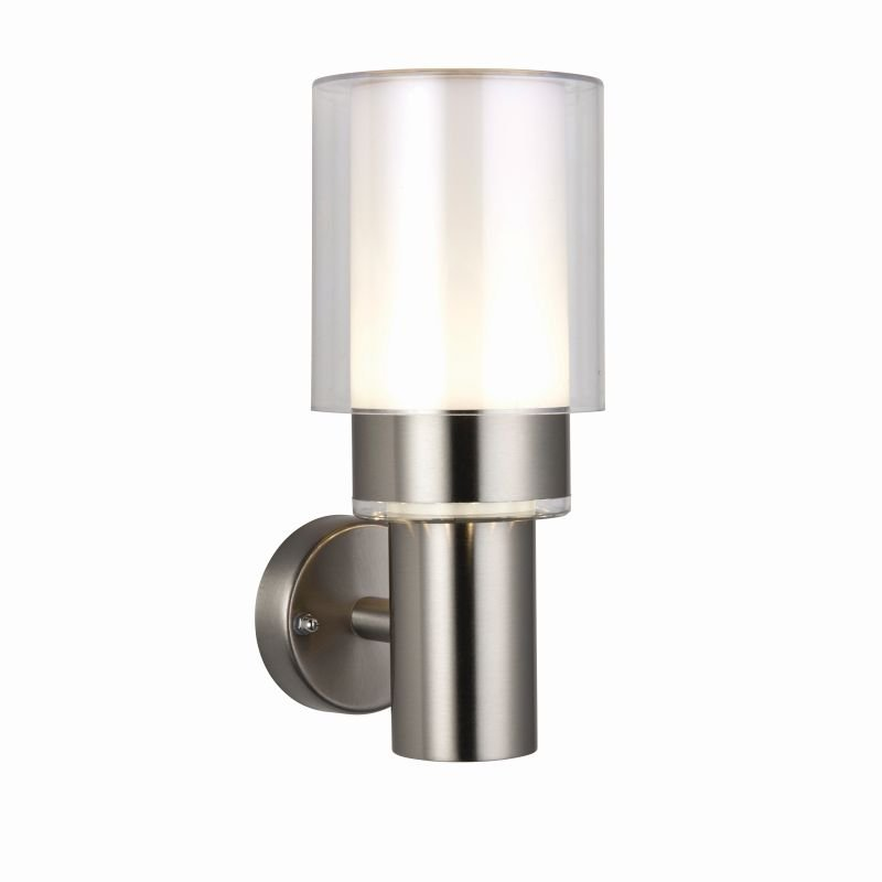 Saxby-79207 - Olympia - LED Clear & Stainless Steel Wall Lamp