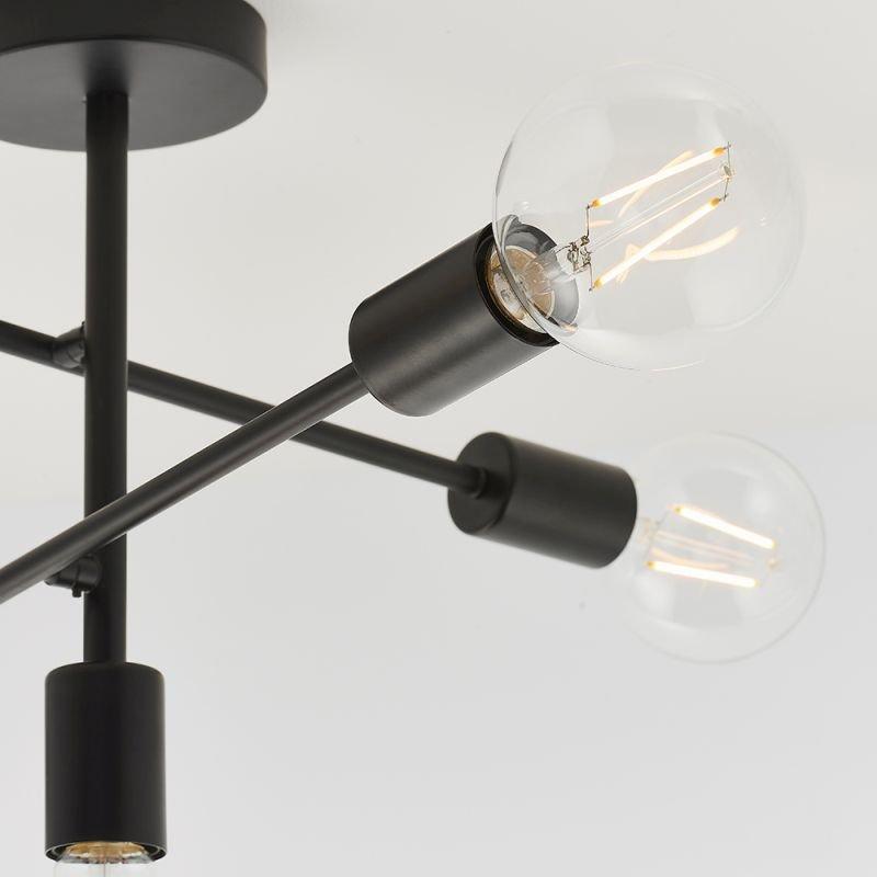 Endon-79502 - Studio - Matt Black 5 Light Centre Fitting