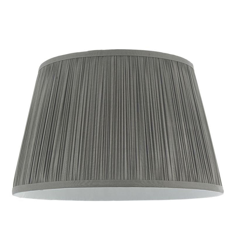 Endon-79626 - Freya - Shade Only - 12 inch Charcoal Silk Shade