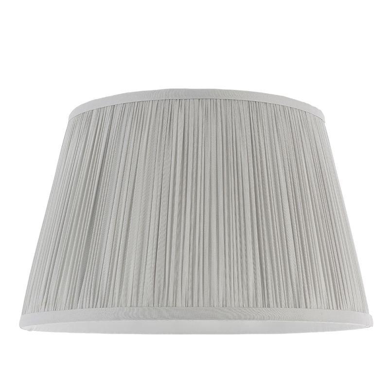 Endon-79629 - Freya - Shade Only - 12 inch Silver Silk Shade