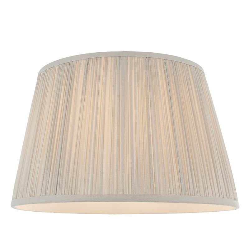 Endon-79630 - Freya - Shade Only - 14 inch Silver Silk Shade