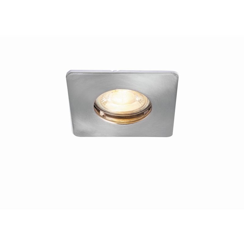 Saxby-80245 - Speculo - Square Brushed Chrome Recessed Downlight