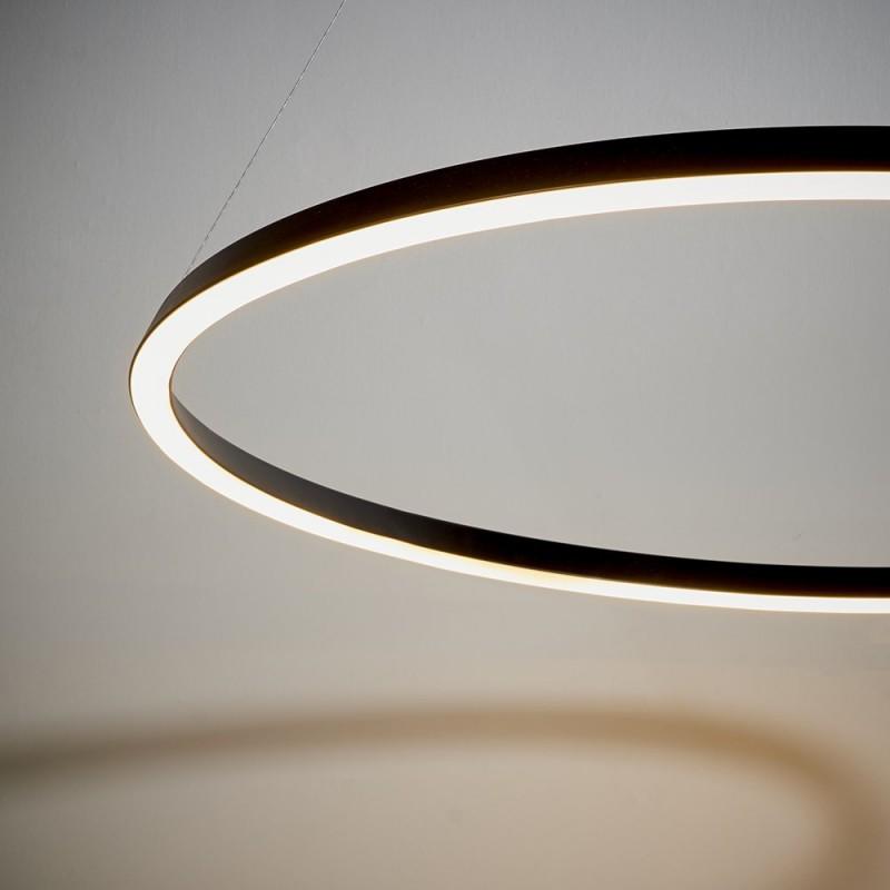 Endon-80628 - Staten - LED Matt Black Round Pendant
